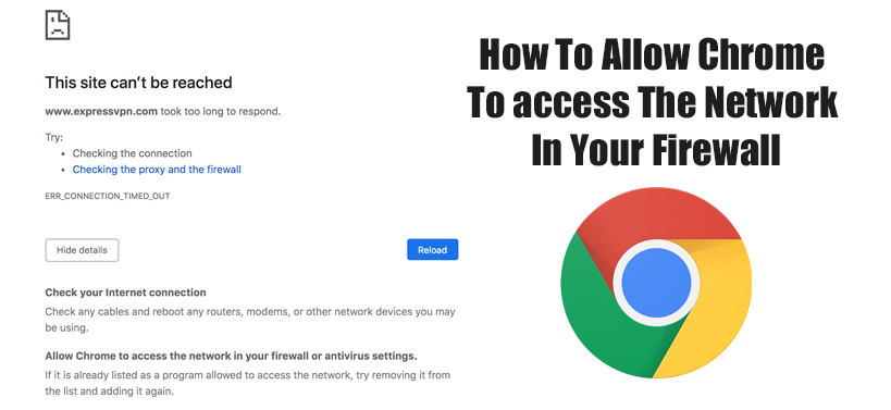 How To Allow Chrome Access the Network